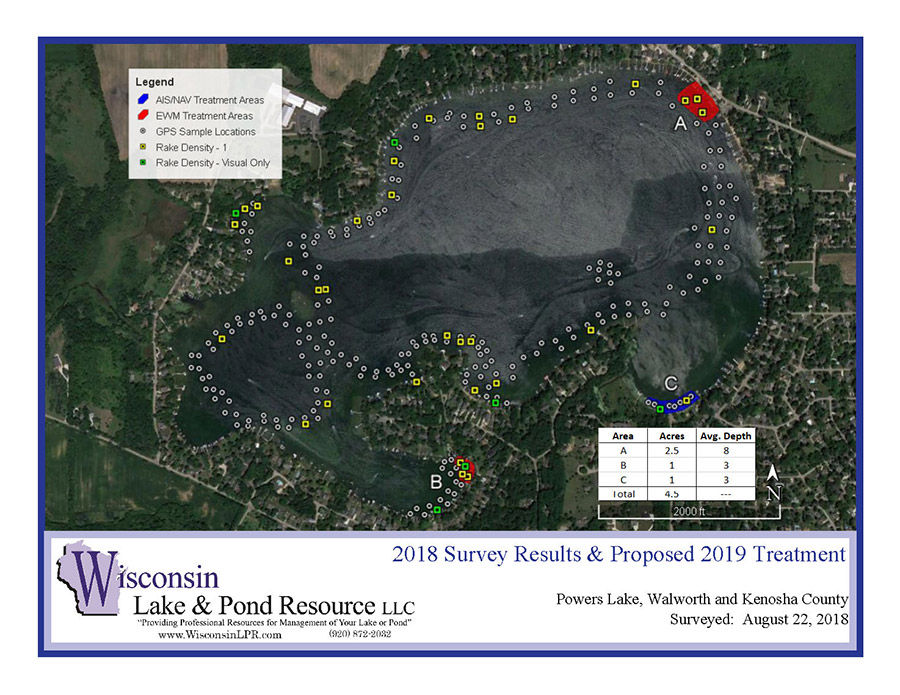 Powers Lake - Milfoil Application Area