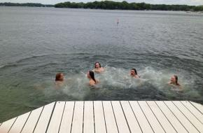 Fun in the Water at Powers Lake Pier