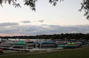 Boats at the Pier at Powers Lake, WI